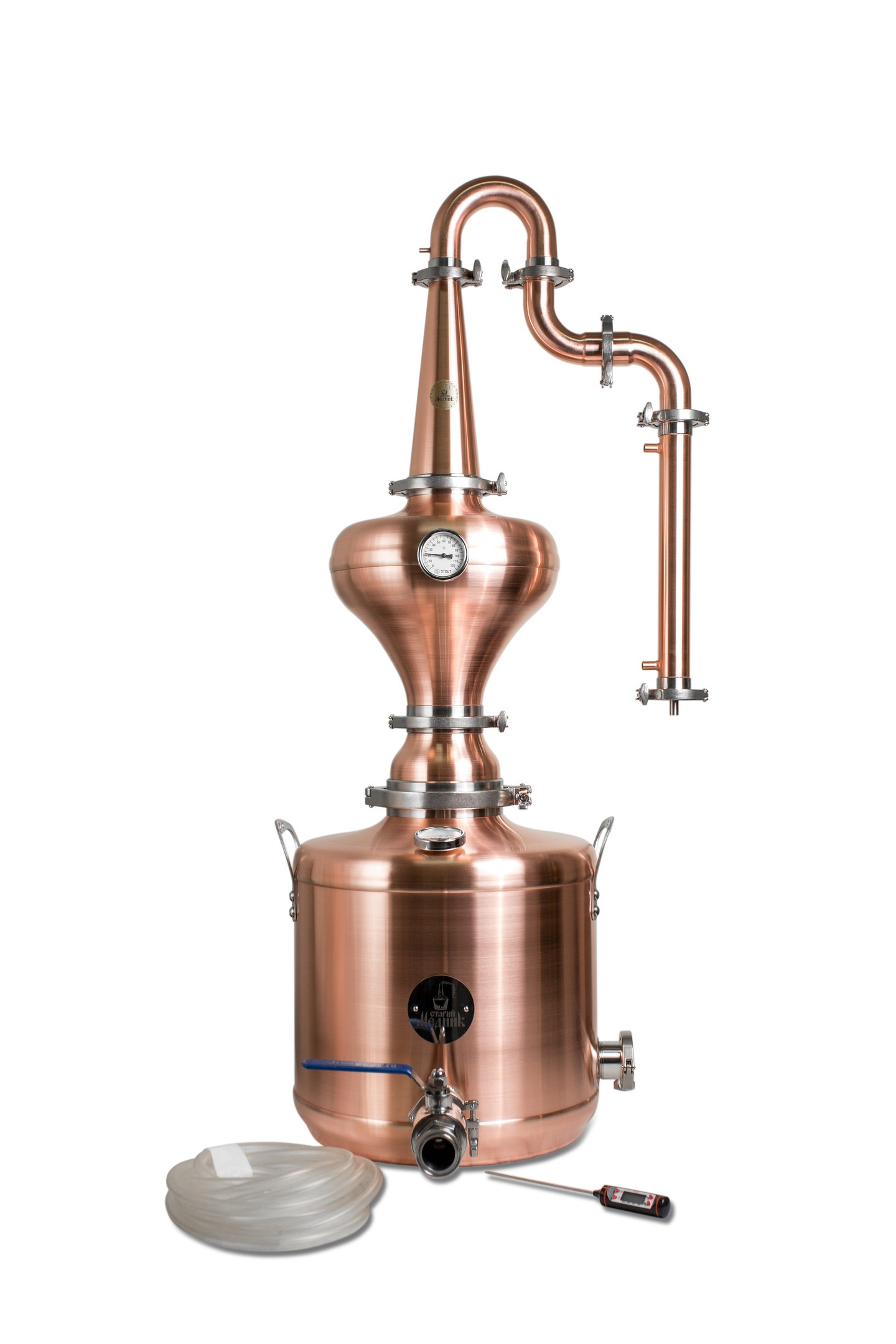 60l Whiskey Distillation Tower With Copper Helmet «Premium» & Gooseneck