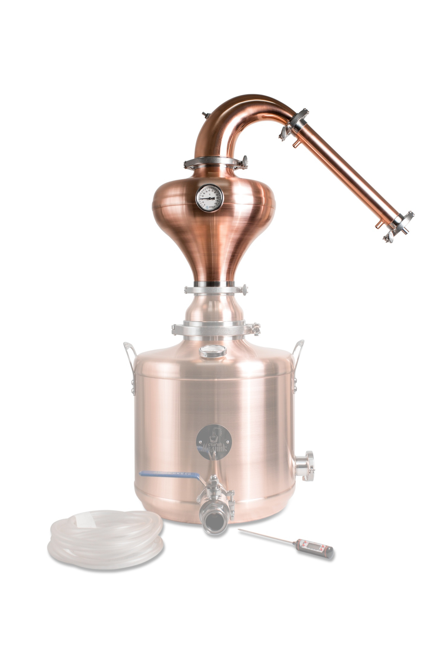 Whiskey Distillation Tower With Copper Helmet «Premium»