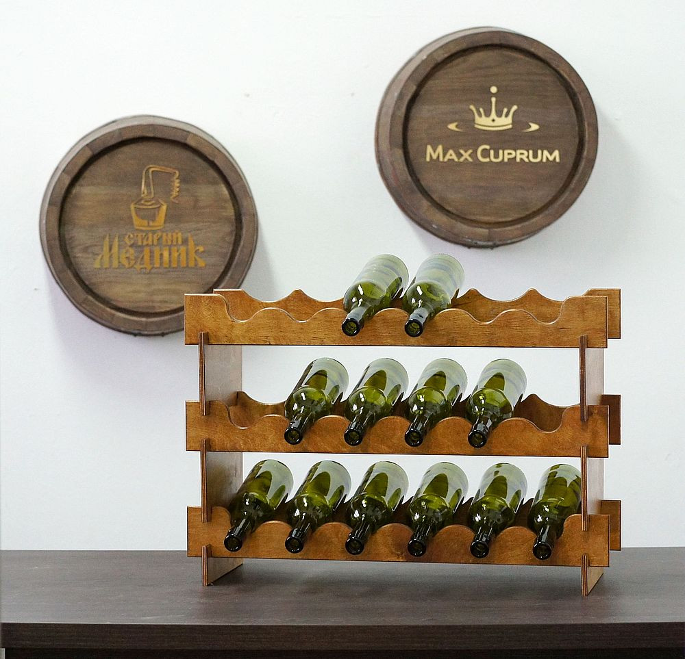 Wooden Stand For 18 Bottles