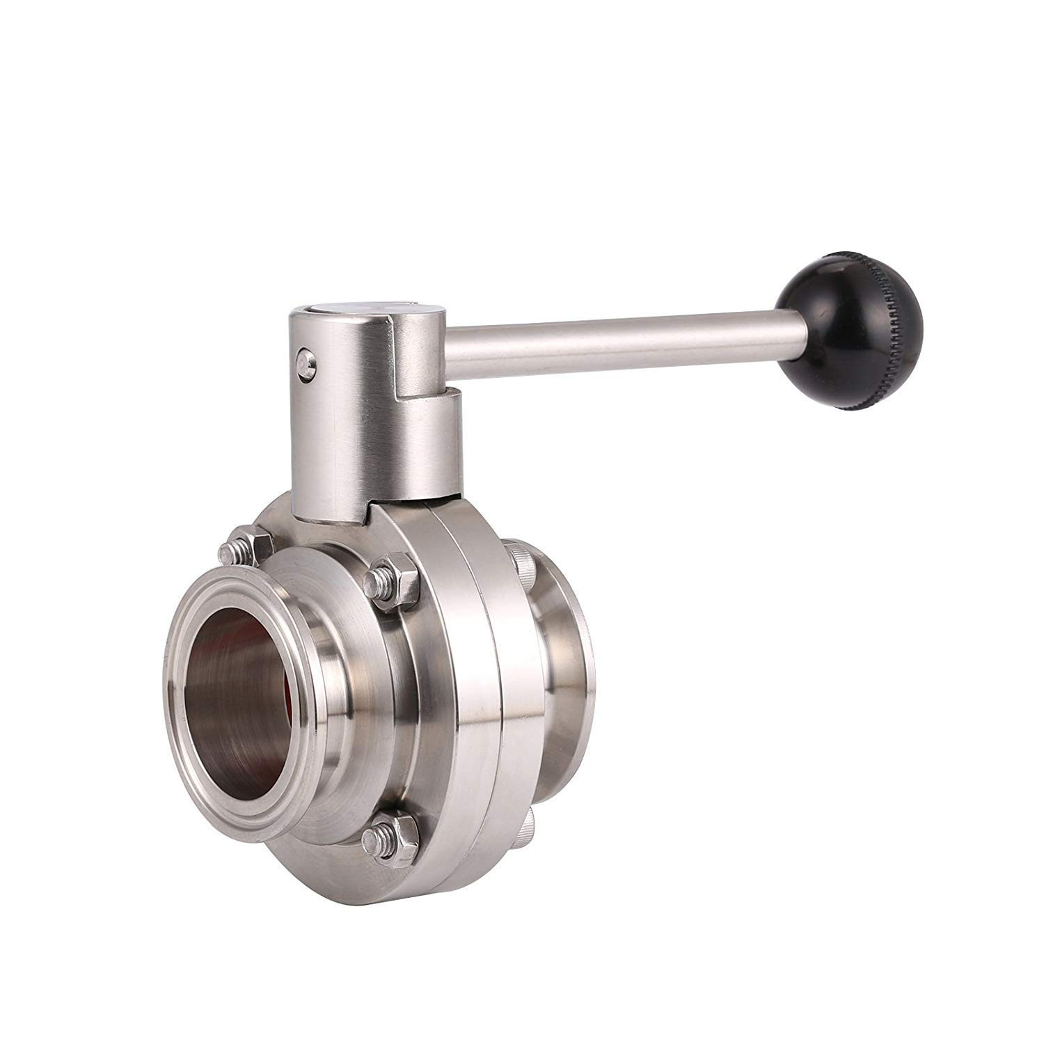 """2"""" TRI-CLAMP butterfly valve with pull handle"""