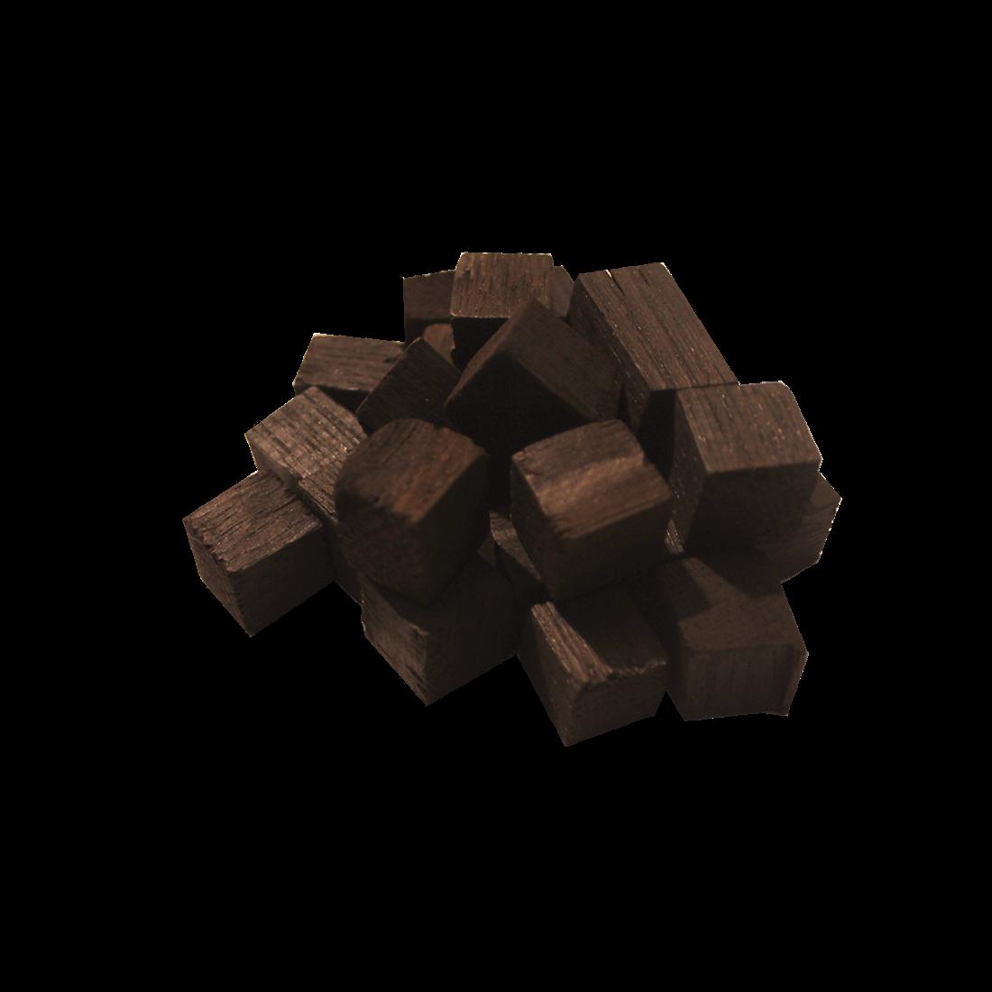 Oak cubes (strong firing), 100 g