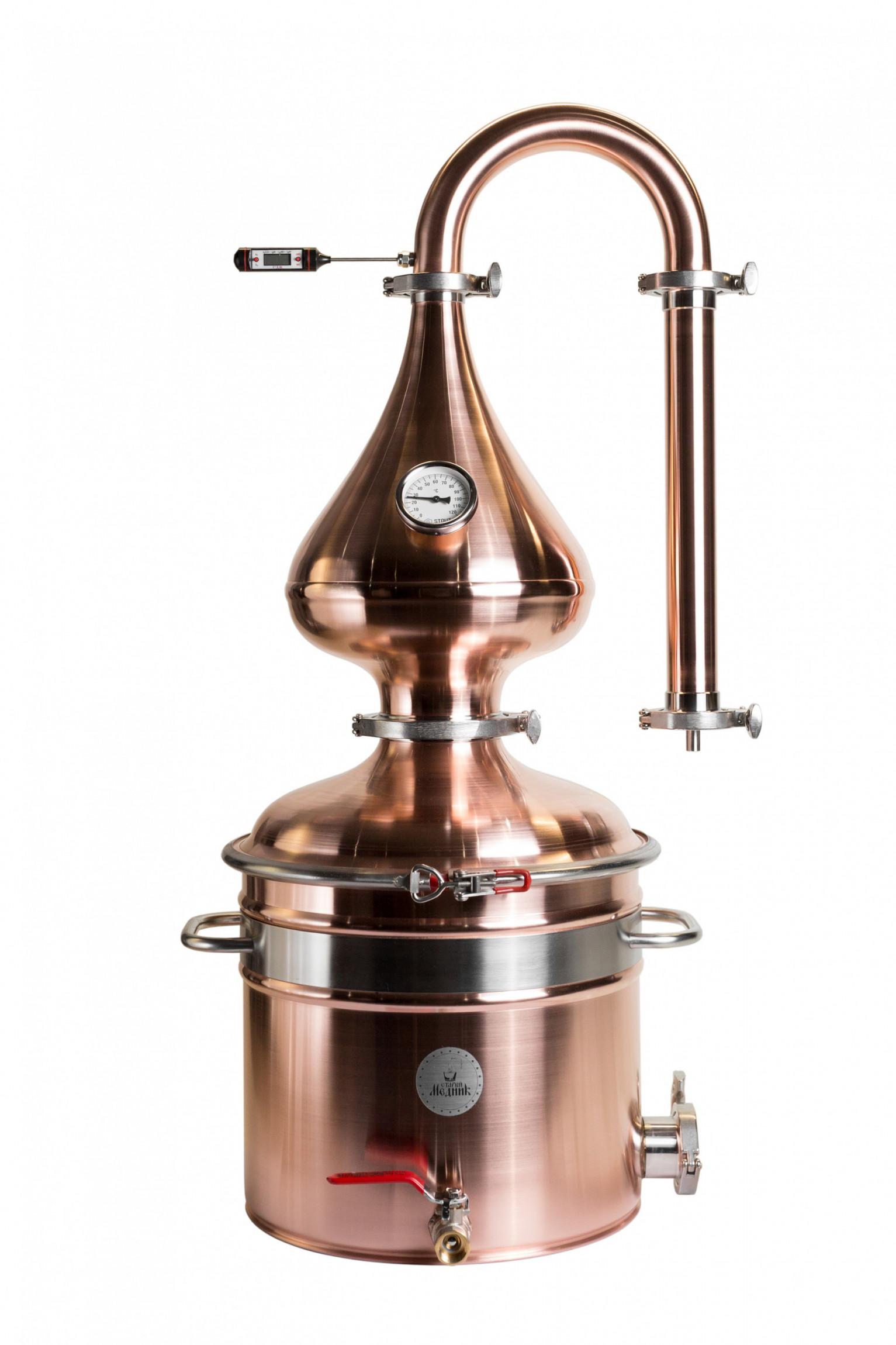"Moonshine distiller Medium 25 l ""Old Coppersmith"""